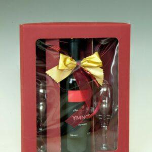 Imnos crveno vino, poklon 2 čaše